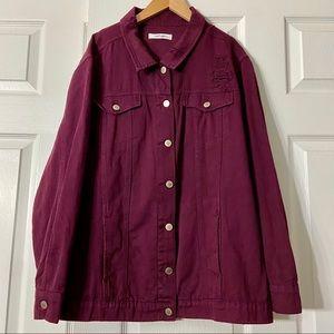 Refuge Distressed Denim Jacket